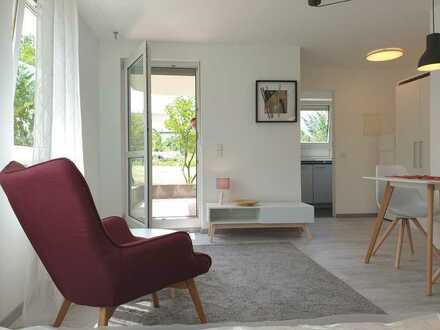 Möbliertes 1 Zi.-Ap. mit EBK, Terrasse und TG Stellplatz