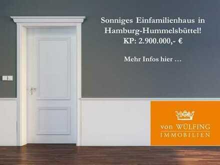 Sonniges Einfamilienhaus in Hamburg-Hummelsbüttel...