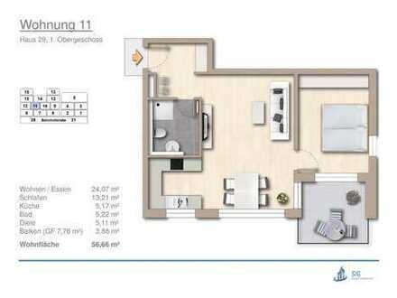 schöne 2-Zi.-Neubau-Eigentumswohnung mit Aufzug und Balkon in Erdmannhausen