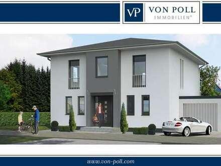 Wohnen und arbeiten in einem: Baugrundstück für eine Villa, Bürogebäude mit einer kleinen Halle