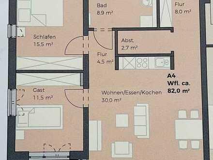 Erstbezug mit Balkon: attraktive 3-Zimmer-Wohnung in Burglengenfeld