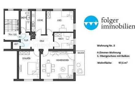 ...sanierte 4 Zi-Stadtwohnung, ruhig, zentral, mit Sonnenbalkon und Stpl./Garage...