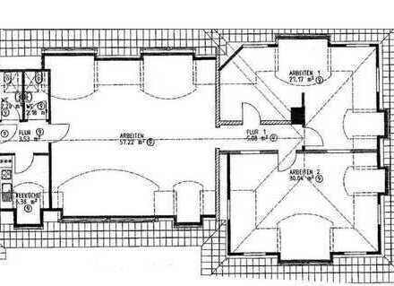 HELLES GROßRAUMBÜRO!! zwei Toilette, Küche, derzeit 3 große Räume