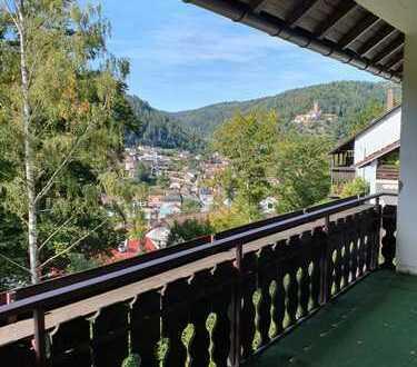 Penthouse-artige 3,5-Zimmer-Wohnung mit Dachterrasse und toller Aussicht in Bad Liebenzell