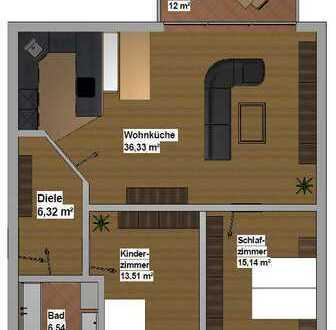 Modern gestaltete 3 Zimmer Dachgeschoss-Wohnung in Stadtnähe frei ab 01.01.2020