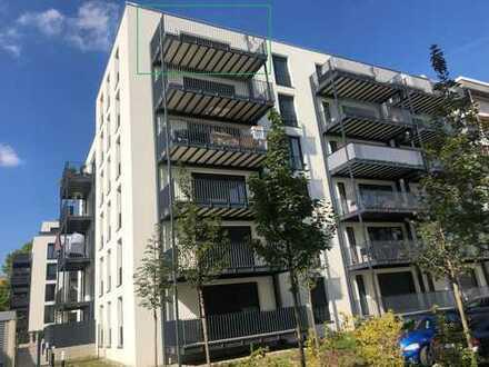 NEUBAU - 3-Zimmer-Penthouse-Wohnung mit riesiger Sonnenterrasse, Balkon, EBK, TG-Stellplatz