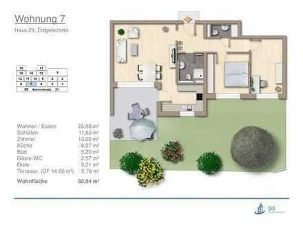 schöne Neubau Eigentumswohnung in Erdmannhausen mit Südterrasse