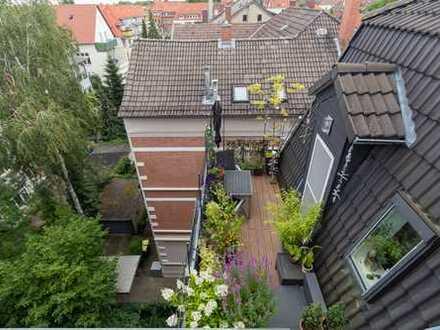 Einzigartige Dachwohnung über zwei Ebenen mit Dachterrasse