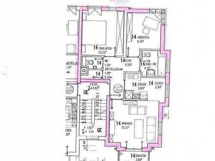 Gepflegte 3-Zimmer-Wohnung mit Balkon, Einbauküche und Stellplatz in Bad Bergzabern