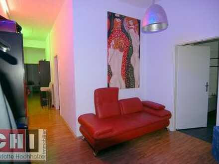 Nähe Harras/Westpark - 2-Zimmer-AB-Wohnung mit Loftcharakter gr. Wohnküche u. gr. Westbalkon