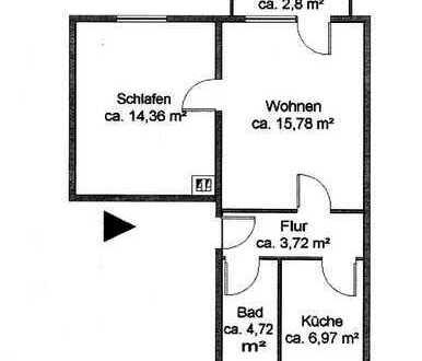 Gepflegte 2-Zimmer-Wohnung mit Balkon, Einbauküche und Stellplatz in Greifswald