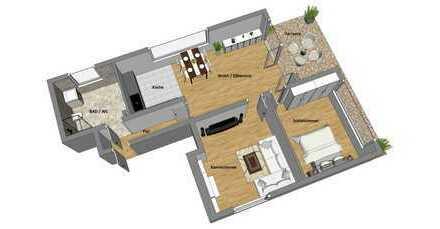 Wohnung in guter Wohnlage mit Steinblock Kamin, Parkettboden, Terrasse und Garten (ohne Makler)