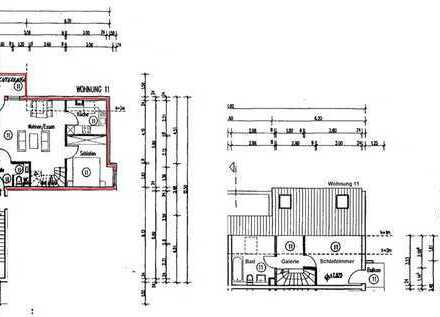 Gemütliche lichtdurchlässige 3 ZKB mit 2 Balkonen und Einbauküche