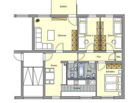 Helle und geräumige 4,5 Zi. Wohnung mit Balkon und Blick ins Grüne