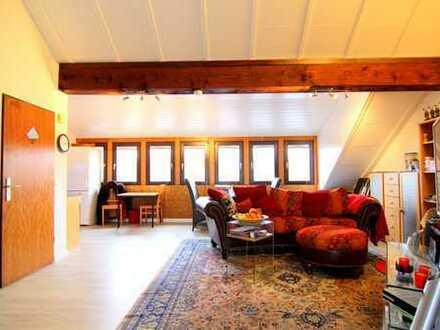 Zink Immobilien: Großzügiges Apartment mit Kamin, Terrasse und Stellplatz