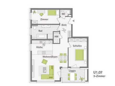3-Zimmerwohnung im Schönblick - St. Georgen im Schwarzwald : Baubeginn erfolgt