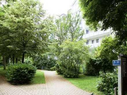 Helle 3 Zimmer-Wohnung mit Garten, Nähe St. Emmeram, Englischer Garten