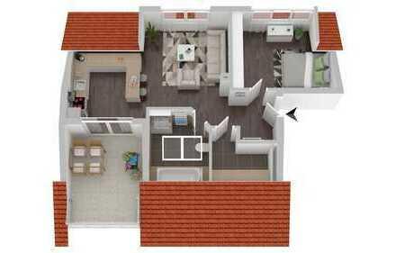 **Projektiert**Attraktive 2 Zimmer-Neubau-Dachgeschosswohnung in ruhiger Wohnlage von Speyer