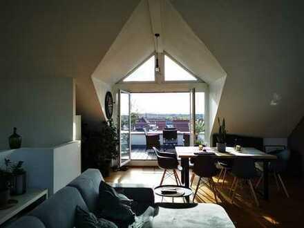 Attraktive 3-Zimmer-Wohnung mit großer Dachterrasse zur Miete in Ehrenkirchen
