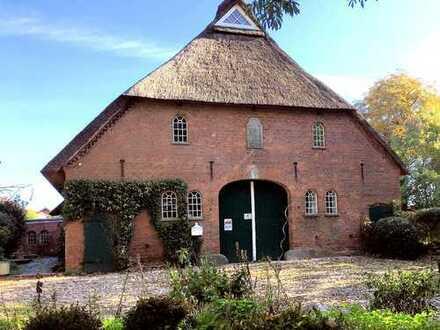 Ein Blickfang: Wunderschönes, historisches Landhaus unter Reet in ländlicher Lage