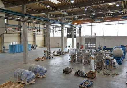 Vierkirchen b. München, Industrieliegenschaft mit ca. 3.600 m² kranfähiger Hallenfläche zur Miete