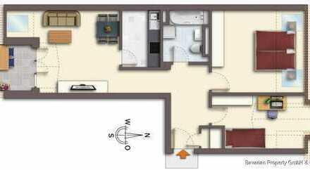 3-Zimmer-Dachgeschosswohnung mit Stellplatz im Straubinger Süden
