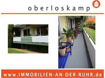 Gepflegte 3-Zimmer Eigentumswohnung im Erdgeschoss mit 2 Balkonen und Garage in Köln Weiden!
