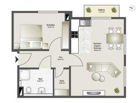 Neubau 8 Familienhaus-Zentrumsnahme ab 2,5 Zi. bis 4,5 Zi. ETW Whg. 6