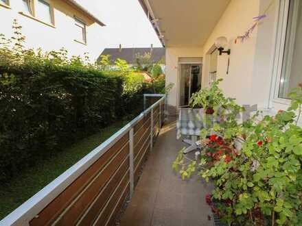 Ideal geschnittene 4-Zimmer-Wohnung mit Balkon, Garten und Garage in ruhiger Lage