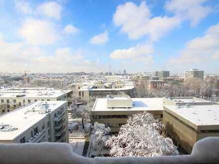 SCHWABING mit West-Balkon - vollmöbliertes Appartment mit unverbaubarem Blick auf den Olympiaturm
