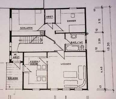 Gepflegte 3-Zimmer-Wohnung mit Balkon und Einbauküche in Ohmden