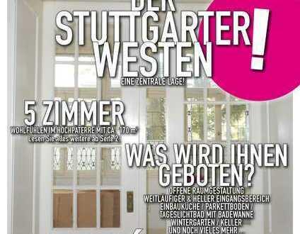 Charmante 5 Zimmer Altbauwohnung in Stuttgart West mit Wintergarten - WG's sind nicht möglich!