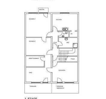 Gepflegte, großzügige 4 - Zimmerwohnung mit Dachterrasse mitten in der City!