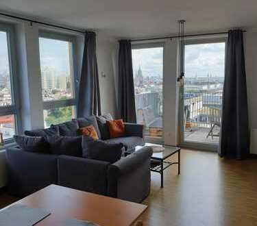 Teilmöblierte neuwertige 2-Zimmer-Wohnung mit Balkon und Einbauküche in Schwanthalerhöhe, München