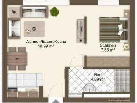 Hochwertige 1,5-Zimmer-Wohnung in zentraler Lage!