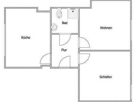 Perfekte 2-Zimmerwohnung + Küche + Diele + Bad