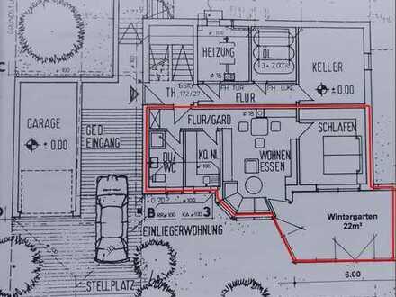 Sonnige Zweizimmerwohnung mit Wintergarten und Terrasse in Hafenlohr