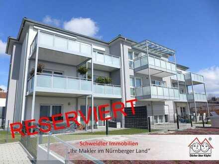 Balkontraum! Großzügige 3-Zimmer-Wohnung für Neubau-Liebhaber mit 2 Kfz-Stellplätzen in Schnaittach