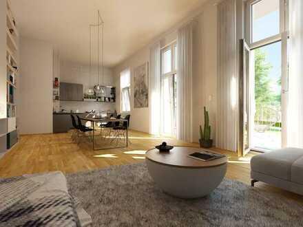 Repräsentative DG-Wohnung mit ca. 59m² Wohnbereich und ~3,21m Raumhöhe + West-Loggia