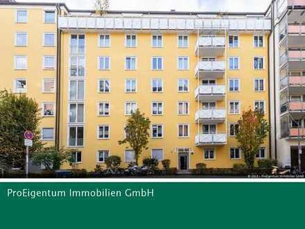 Bogenhausen: Attraktive 2-Zi. Wohnung mit Westloggia in Toplage im Herzogpark