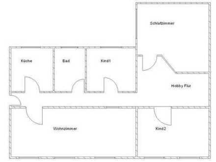 ruhige große 4 Raumwohnung im Stadtzentrum von Neuruppin