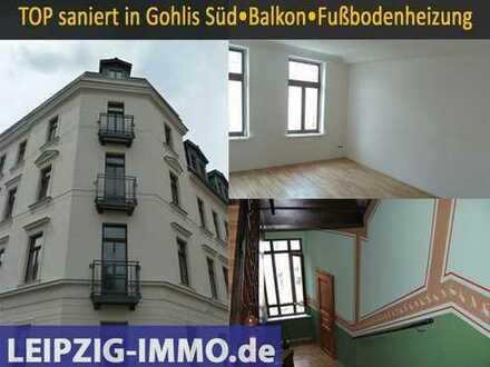 GOHLIS-SÜD ***2Raumwhg. m. Balkon* Lift * Stuck * Parkett * Fußbodenheizung...