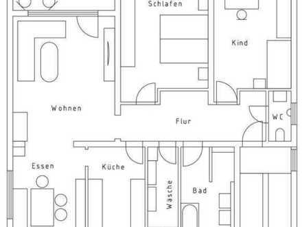 3-Zimmer Wohnung mit Balkon