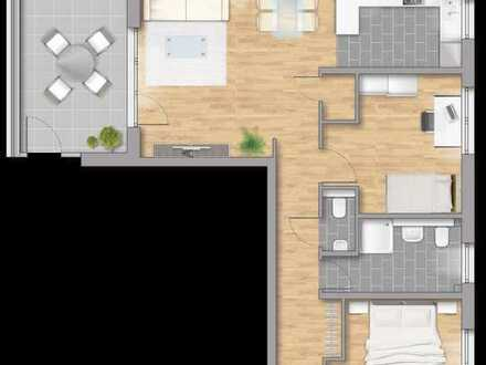 """3 Zimmer Penthauswohnung 78,49 m ² """"Sie sehen die Welt von oben"""""""