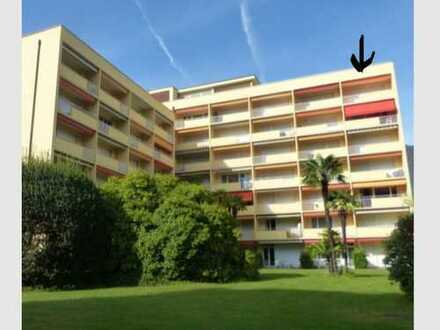 Sanierte 1,5-Zimmer-DG-Wohnung mit Balkon und Einbauküche in Locarno