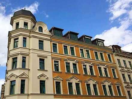 hochwertig sanierte 4-Raum-Wohnung mit Balkon & vielen Extras in Lindenau