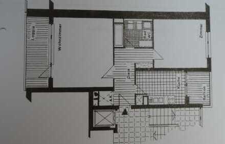 Erstbezug nach Kernsanierung, helle 2 Zimmer Wohnung mit Loggia und Balkon