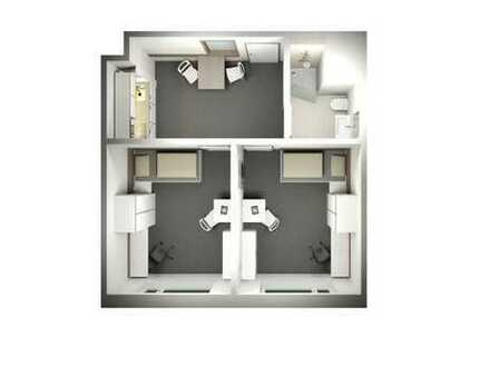 Zimmer in 2er WG in modernen Studentenwohnheim