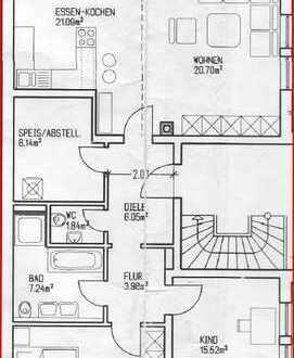 Sonnige, ruhige 3 Zimmer-DG-Wohnung