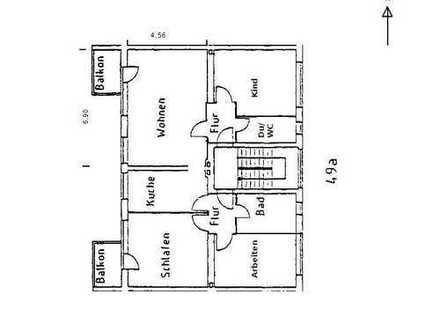 Bild_Helle, renovierte 4-Zimmer-Wohnung mit 2 West-Balkonen und Einbauküche in Steglitz, Berlin